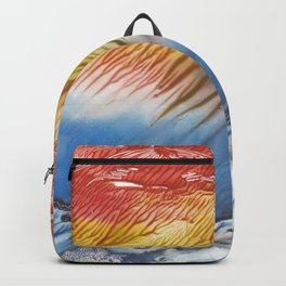 The Wind - abstract landscape watercolor monotype Backpack
