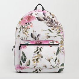 Roses Orchids and Wild Flowers Backpack