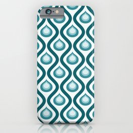 Abstract Peacock - Teal Color Vintage Pattern iPhone Case