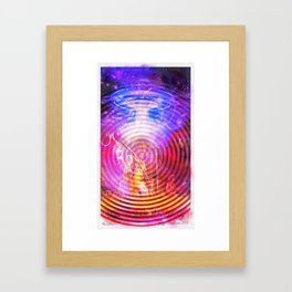 Hendrix Abduction Moire Framed Art Print