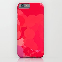 red bubbles moving in iPhone Case