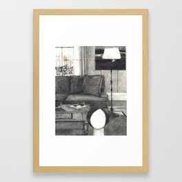 Dolly and Couch Framed Art Print