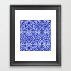 Simple Ogee Blue Framed Art Print