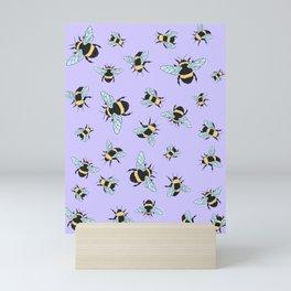 Bumble Bee (Lavender) Mini Art Print
