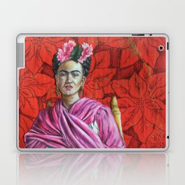 Frida Kahlo with Poinsettias Laptop & iPad Skin