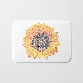 Kanji calligraphy art :Sunflower Bath Mat