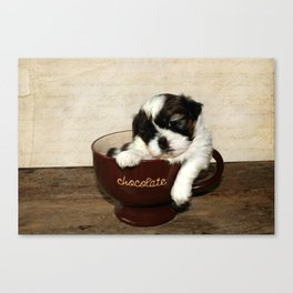Cup of Puppy Canvas Print