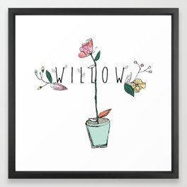 floral kids custom! Framed Art Print