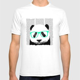 Panda with teal glasses T-shirt