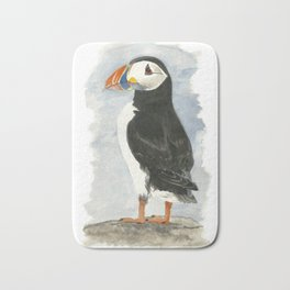 Atlantic Puffin - Watercolor Bath Mat