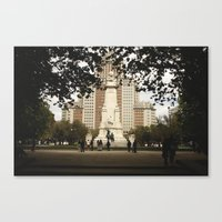 madrid Canvas Prints featuring Madrid by cristinacarrion