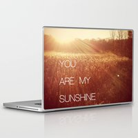 you are my sunshine Laptop & iPad Skins featuring You Are my Sunshine by Olivia Joy StClaire