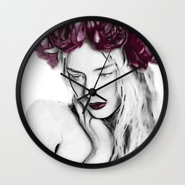 A gift flower to the garden Wall Clock