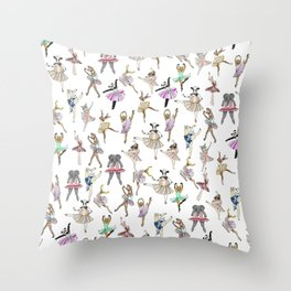 Animal Ballet Hipsters LV Throw Pillow