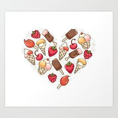 In love with icecream Art Print