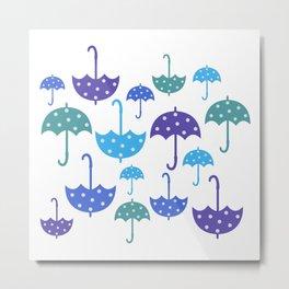 Umbrella pattern Metal Print