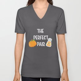 Pumpkin Spice - The Perfect Pair Unisex V-Neck