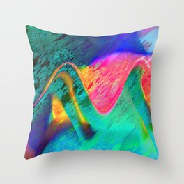 energy overload Throw Pillow