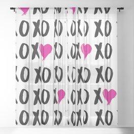 XOXO love Sheer Curtain