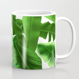 tropical banana leaves pattern Coffee Mug