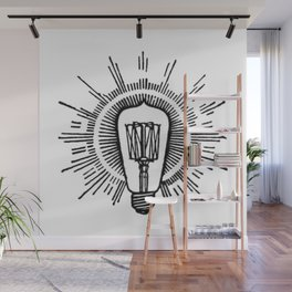 Lightbulb Wall Mural