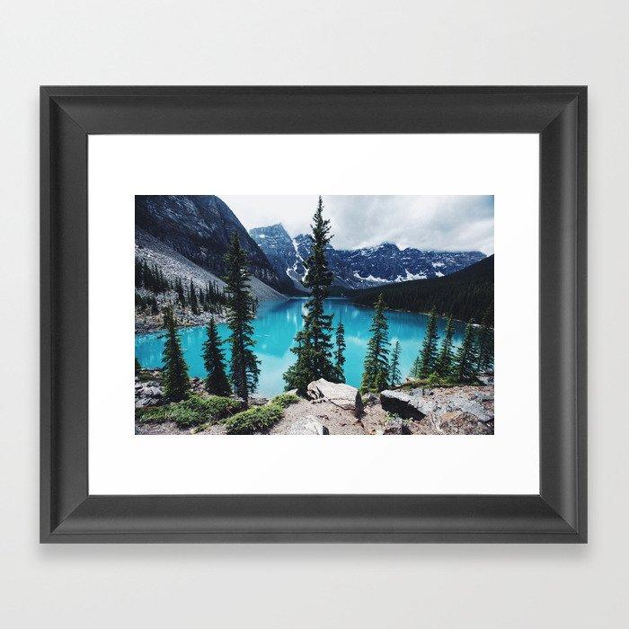 Lake Moraine Alberta Framed Art Print