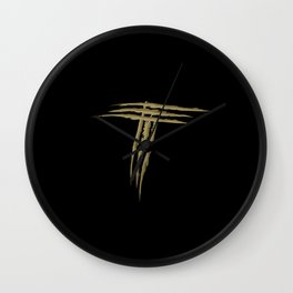 Letter T scratch (gold) Wall Clock