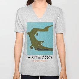 Visit the zoo Alligator Unisex V-Neck