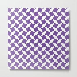 Purple Op Art Pattern Metal Print