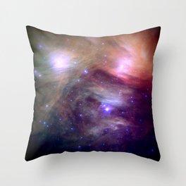 Galaxy : Pleiades Star Cluster NeBula Throw Pillow