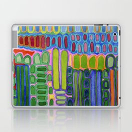 Colorful elongated Forms Pattern Laptop & iPad Skin