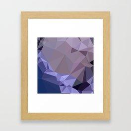 Dark Byzantium Purple Abstract Low Polygon Background Framed Art Print