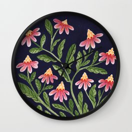 The Red Flowers Wall Clock