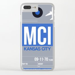 MCI Kansas City Luggage Tag 2 Clear iPhone Case