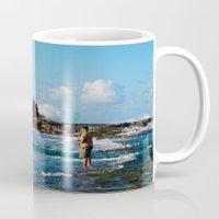 puerto rico Mugs featuring Pescador en Villa Pesquera, Isabela, Puerto Rico by Silmagerie