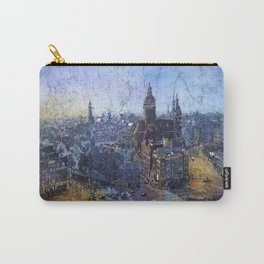 Downtown medieval Amsterdam, Netherlands at sunset. Carry-All Pouch