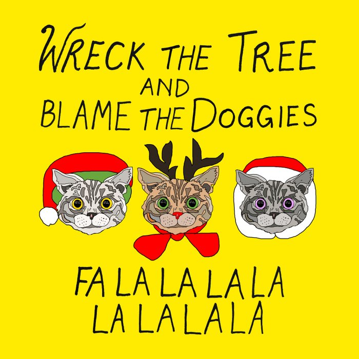 Holiday Cat Brats Duvet Cover