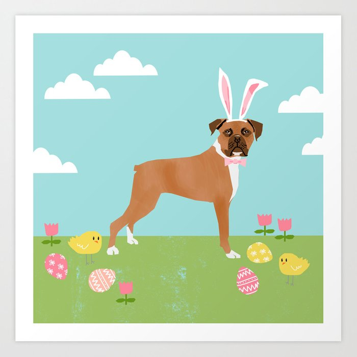 Boxer easter costume dog breed spring easter egg hunt dog gifts art boxer easter costume dog breed spring easter egg hunt dog gifts art print negle Choice Image