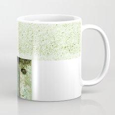 White Green Concrete Mug