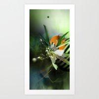 angel Art Prints featuring Angel by Andre Villanueva