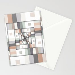 Colorful Geometric Layers Stationery Cards
