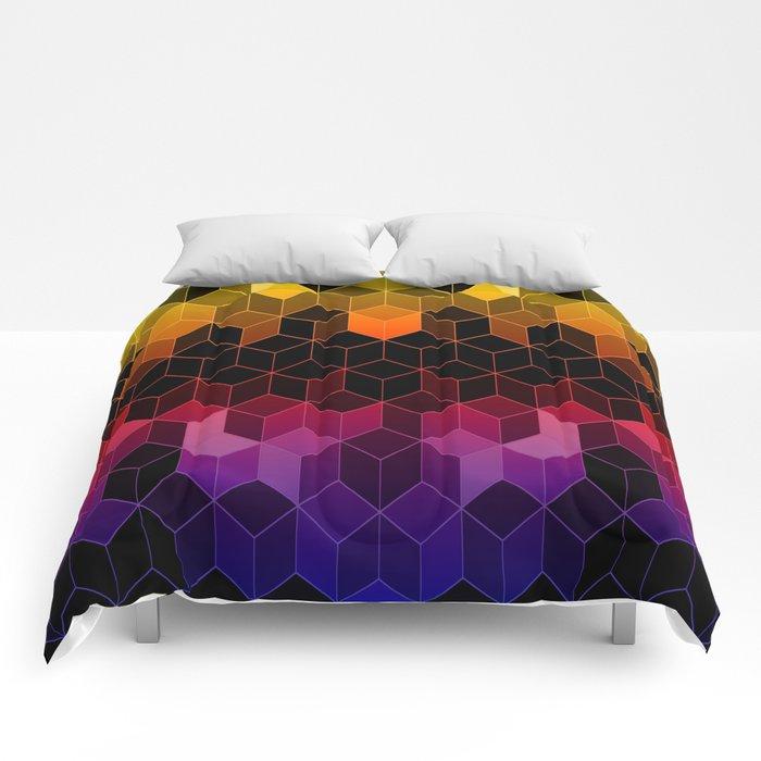 Rainbow Cubes Comforters