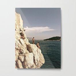 dubrovnik cliff divers Metal Print