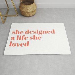 she designed a life she loved Rug