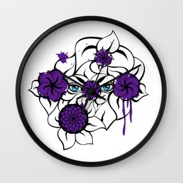 Mysterious Eyes Wall Clock