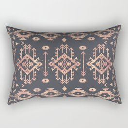 Trendy tribal geometric rose gold pattern Rectangular Pillow