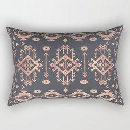 Trendy tribal geometric rose gold pattern Rectangular Pillow