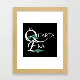 LaQuartaEra_Black Framed Art Print