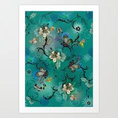 The Butterflies & The Bees  Art Print