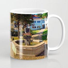 The village fountain of Eidenberg Coffee Mug